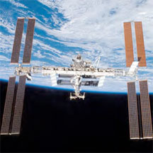 The International Space Station - launched from Titusville, Florida.